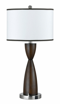 100w metal night stand lamp with on off rocker switch and. Black Bedroom Furniture Sets. Home Design Ideas