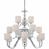 15 Light Downtown Chandelier shown in Polished Chrome by Quoizel Lighting - DW5015C