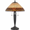 2 Light Andros Tiffany Table Lamp shown in Vintage Bronze by Quoizel Lighting - TF1580TVB