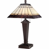 2 Light Bach Tiffany Table Lamp by Quoizel Lighting - TF1574T