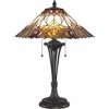2 Light Bancroft Tiffany Table Lamp shown in Western Bronze by Quoizel Lighting - TF1601TWT