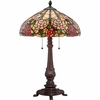 2 Light Bowman Tiffany Table Lamp shown in Russet by Quoizel Lighting - TF1488TRS