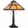 2 Light Bryant Tiffany Table Lamp by Quoizel Lighting - TF1427T