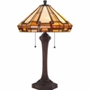 2 Light Burton Tiffany Table Lamp shown in Russet by Quoizel Lighting - TF1431TRS