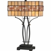 2 Light Callaway Tiffany Table Lamp shown in Vintage Bronze by Quoizel Lighting - TF1178TVB
