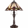 2 Light Fields Tiffany Table Lamp shown in Western Bronze by Quoizel Lighting - TF1425TWT