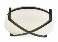 2 Light Flush Mount Lighting with white glass diffuser shown in Oil-rubbed Bronze by AFX Lighting