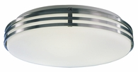 2 Light Flush Mount Lighting with white glass diffuser shown in Satin Aluminum by AFX Lighting
