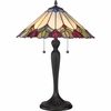 2 Light Fowler Tiffany Table Lamp by Quoizel Lighting - TF1434T