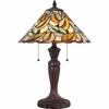 2 Light Gardner Tiffany Table Lamp by Quoizel Lighting - TF1428T