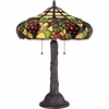 2 Light Grapevine Tiffany Table Lamp shown in Western Bronze by Quoizel Lighting - TF1558TWT