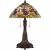 2 Light Greene Tiffany Table Lamp shown in Russet by Quoizel Lighting - TF1486T