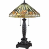 2 Light Greenwood Tiffany Table Lamp shown in Western Bronze by Quoizel Lighting - TF1599TWT