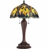 2 Light Grove Tiffany Table Lamp shown in Russet by Quoizel Lighting - TF1562TRS