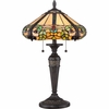 2 Light Harland Tiffany Table Lamp shown in Imperial Bronze by Quoizel Lighting - TF1572TIB