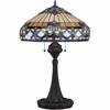 2 Light Howell Tiffany Table Lamp shown in Vintage Bronze by Quoizel Lighting - TF1511TVB