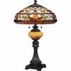 2 Light Jewel Tiffany Table Lamp shown in Imperial Bronze by Quoizel Lighting - TF1575TIB