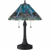 2 Light King Tiffany Table Lamp shown in Vintage Bronze by Quoizel Lighting - TF1508TVB