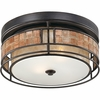 2 Light Laguna Flush Mount shown in Renaissance Copper by Quoizel Lighting - MCLG1612RC