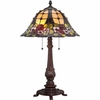 2 Light Mills Tiffany Table Lamp shown in Russet by Quoizel Lighting - TF1489TRS