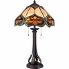2 Light Monarch Tiffany Table Lamp shown in Imperial Bronze by Quoizel Lighting - TF1608TIB
