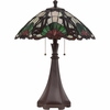 2 Light Moore Tiffany Table Lamp shown in Western Bronze by Quoizel Lighting - TF1504TWT