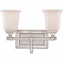 2 Light Nicholas Bath Fixture shown in Brushed Nickel by Quoizel Lighting - NL8602BN