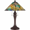 2 Light Payne Tiffany Table Lamp shown in Russet by Quoizel Lighting - TF1485TRS