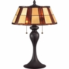 2 Light Redding Tiffany Table Lamp shown in Western Bronze by Quoizel Lighting - TF1605TWT