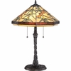 2 Light Sahara Tiffany Table Lamp shown in Imperial Bronze by Quoizel Lighting - TF6102TIB