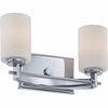 2 Light Taylor Bath Fixture shown in Polished Chrome by Quoizel Lighting - TY8602C