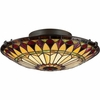 2 Light Tiffany Flush Mount shown in Vintage Bronze by Quoizel Lighting - TF1400SVB