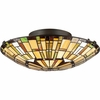 2 Light Tiffany Flush Mount shown in Vintage Bronze by Quoizel Lighting - TF1408SVB