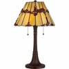2 Light Tiffany Lamp shown in Russet by Quoizel Lighting - TF1268TRS