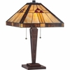 2 Light Tiffany Lamp shown in Russet by Quoizel Lighting - TF1274TRS