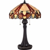 2 Light Trailing Vine Tiffany Table Lamp shown in Imperial Bronze by Quoizel Lighting - TF1568TIB