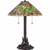 2 Light Tropica Tiffany Table Lamp shown in Imperial Bronze by Quoizel Lighting - TF1606TIB