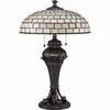 2 Light Weston Tiffany Table Lamp shown in Imperial Bronze by Quoizel Lighting - TF1577TIB