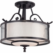 "Quoizel Lighting (ADS1715DC) Adonis 15"" Semi-Flush Mount in Dark Cherry"