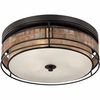3 Light Laguna Flush Mount shown in Renaissance Copper by Quoizel Lighting - MCLG1616RC