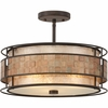 3 Light Laguna Semi-Flush Mount shown in Renaissance Copper by Quoizel Lighting - MC842SRC