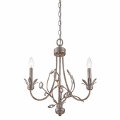 Quoizel Lighting (WSY5003IF) Wesley 3-Light Chandelier in Italian Fresco