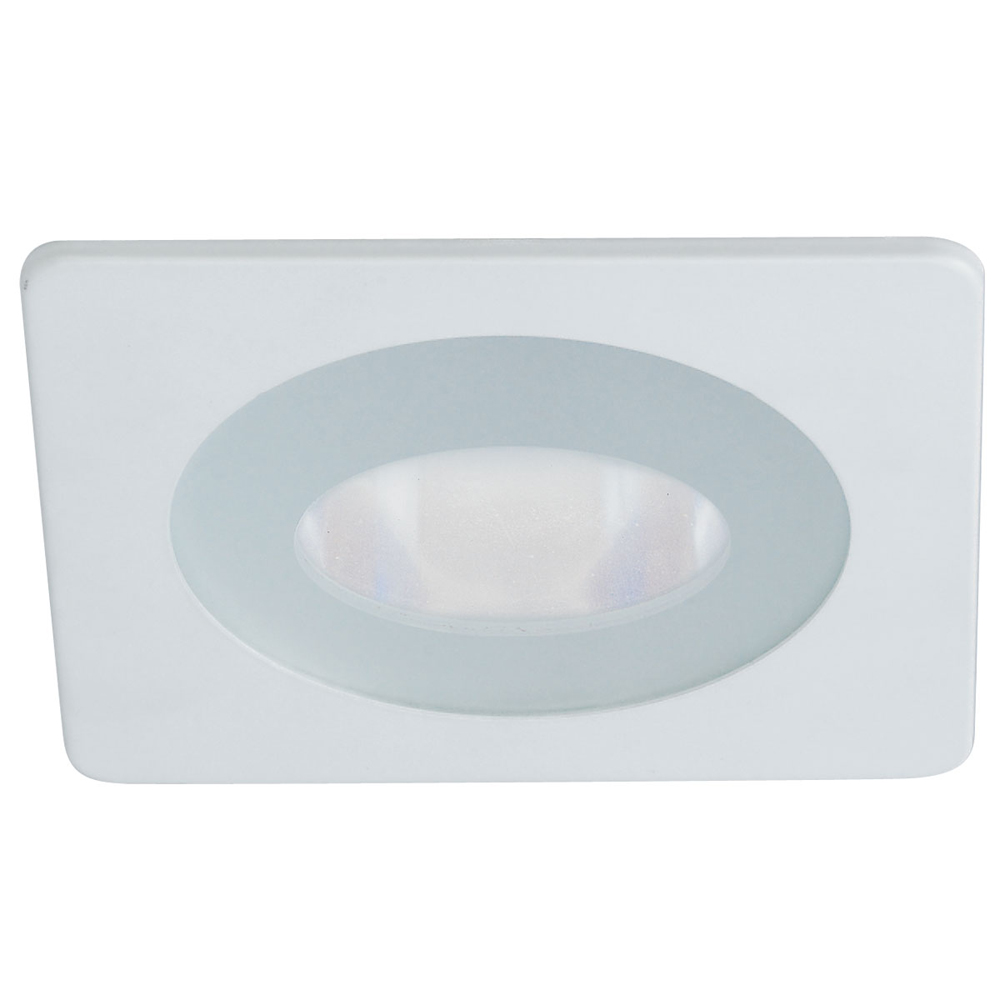 4 Inch Recessed Trim Frosted Flat Lens With Clear Center With Square Trim By