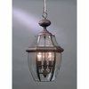 4 Light Newbury Outdoor Fixture shown in Medici Bronze by Quoizel Lighting - NY1180Z