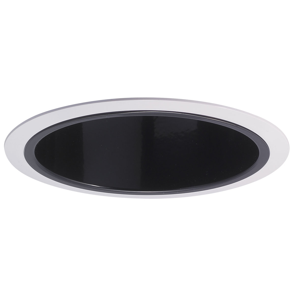 6 Inch Recessed Trim Specular Reflector And White Plastic Ring By Nora Lighti