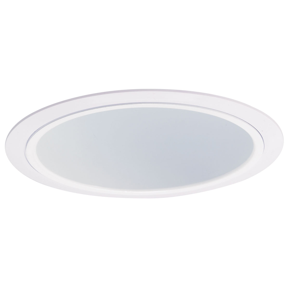 inch recessed trim specular white reflector with white plastic ring. Black Bedroom Furniture Sets. Home Design Ideas