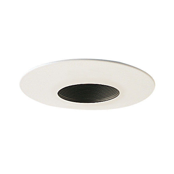 6 Inch Recessed Trim Stepped Baffle With Metal Trim By Nora Lighting NT 641