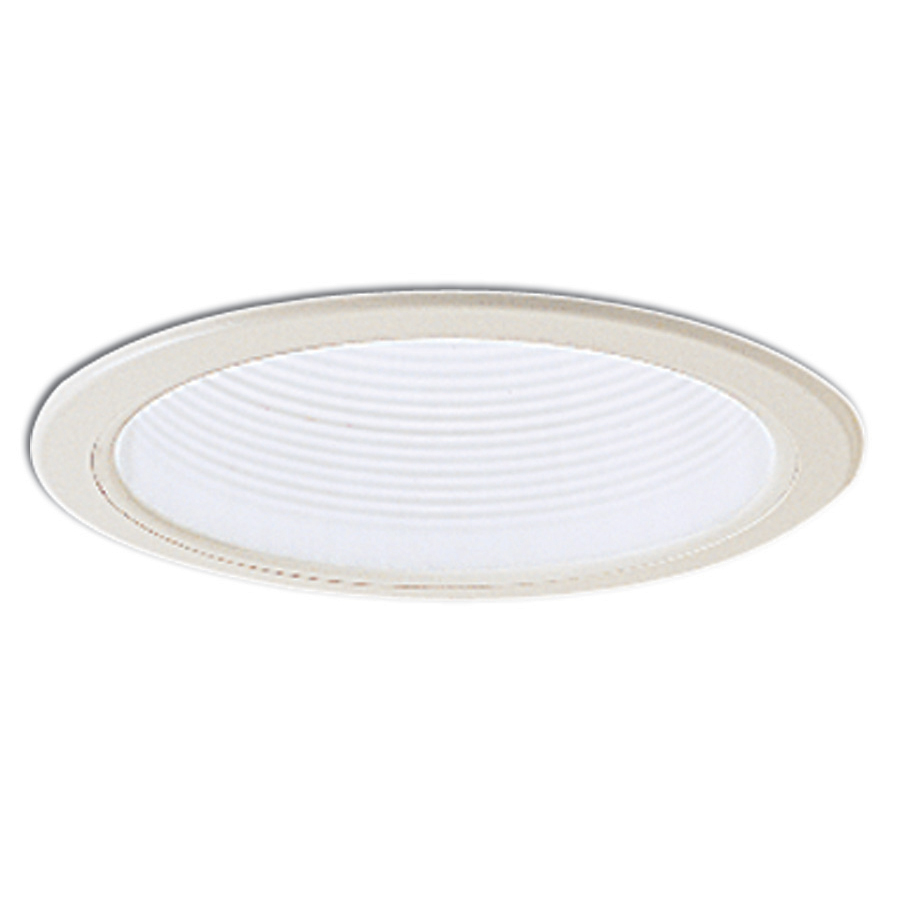 6 Inch Recessed Trim White Adjustable Stepped Baffle White Plastic Ring By N