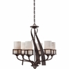 6 Light Kyle Chandelier shown in Iron Gate by Quoizel Lighting - KY5006IN