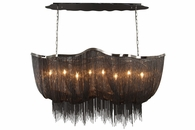 8 Light Black Chrome Jewelry Chain Fixture by Avenue Lighting